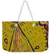 Spaceship Dog Graffiti Weekender Tote Bag