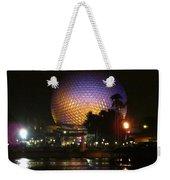 Spaceship Earth At Night Weekender Tote Bag