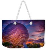 Spaceship Earth Glow Weekender Tote Bag
