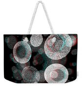 Spacial Rift - View With Or Without Red-cyan 3d Glasses Weekender Tote Bag