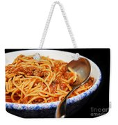 Spaghetti And Meat Sauce With Spoon Weekender Tote Bag