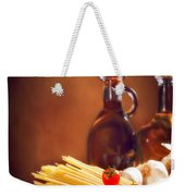 Spaghetti Pasta With Tomatoes And Garlic Weekender Tote Bag