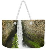 Spahats Falls Waterfall In Wells Gray Provincial Park Weekender Tote Bag