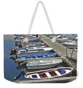 Row Boats In Spain Series 27 Weekender Tote Bag