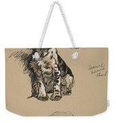 Spaniel, Pekinese And Chow, 1930 Weekender Tote Bag
