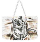 Spanish Cat Waiting Weekender Tote Bag