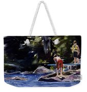 Sparkle Lake Weekender Tote Bag