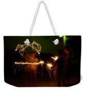 Sparklers Weekender Tote Bag by Valeria Donaldson