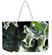 Sparkling Dew On Decorative Kale Weekender Tote Bag