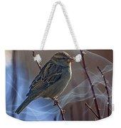 Sparrow In A Weave Weekender Tote Bag