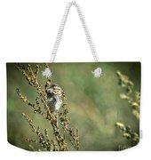 Sparrow In The Weeds Weekender Tote Bag