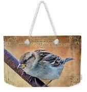 Sparrow With Verse Weekender Tote Bag