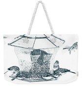 Sparrows In Charcoal Weekender Tote Bag