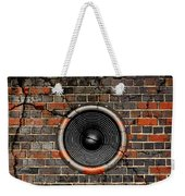 Speaker On A Cracked Brick Wall Weekender Tote Bag