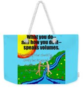 Speaks Volumes Weekender Tote Bag