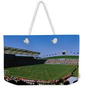 Spectators Watching A Soccer Match, Usa Weekender Tote Bag