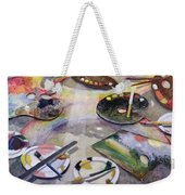 Spectrum Of Artists Palettes, 2003 Weekender Tote Bag