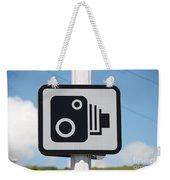 Speed Camera Sign Folkestone Weekender Tote Bag