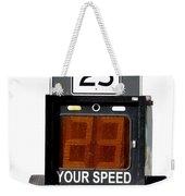 Speed Limit Monitor Weekender Tote Bag