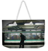 Speeding Subway Train Weekender Tote Bag