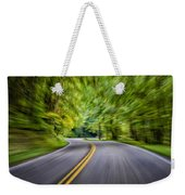 Speeding Through The Forest E42 Weekender Tote Bag