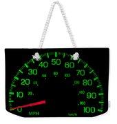 Speedometer On Black Isolated Weekender Tote Bag