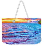 Spencer Beach Sunset Weekender Tote Bag