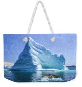 Sperm Whale Fluke In Front Of Iceberg Weekender Tote Bag