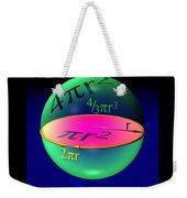 Sphere Equations Maths Poster Black Weekender Tote Bag