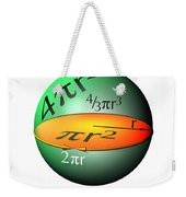 Sphere Equations Maths Poster White Weekender Tote Bag