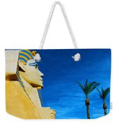 Sphinx And Palm Trees Las Vegas Weekender Tote Bag