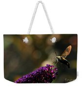 Sphinx Moth On Butterfly Bush Weekender Tote Bag