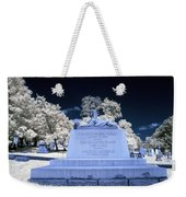 Sphinx Profile Near Infrared Blue And White Weekender Tote Bag