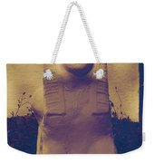 Sphinx Statue Blue Yellow And Lavender Usa Weekender Tote Bag
