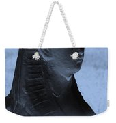 Sphinx Statue Torso Blue And Gray Usa Weekender Tote Bag
