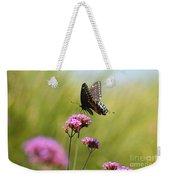 Spicebush Swallowtail Butterfly In Meadow Weekender Tote Bag