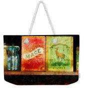 Spices On Shelf Weekender Tote Bag by Susan Savad