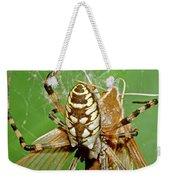 Spider Eating Moth Weekender Tote Bag