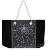 Spider Web With Frost Weekender Tote Bag