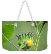 Spiky Green Wild Flowers Weekender Tote Bag