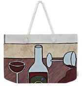 Essence Of Home - Spilt Glass Of Wine Weekender Tote Bag