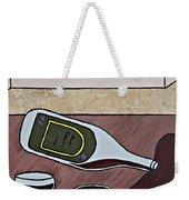 Essence Of Home - Spilt Wine Bottle Weekender Tote Bag