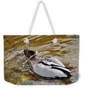 Spin Dry Duck Weekender Tote Bag