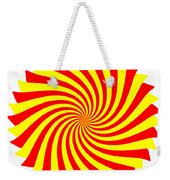 Spin Right On White Weekender Tote Bag