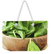Spinach Weekender Tote Bag by Elena Elisseeva