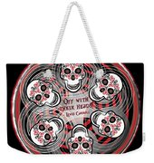 Spinning Celtic Skulls Weekender Tote Bag