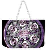 Spinning Celtic Skulls In Purple Weekender Tote Bag