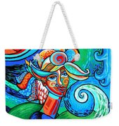 Spiral Bird Lady Weekender Tote Bag by Genevieve Esson