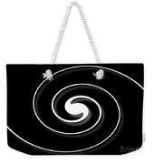 Spiral Black Weekender Tote Bag