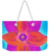 Spiral Flower Weekender Tote Bag by Daina White